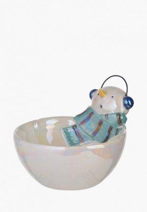 Тарелка Decogallery Снеговик