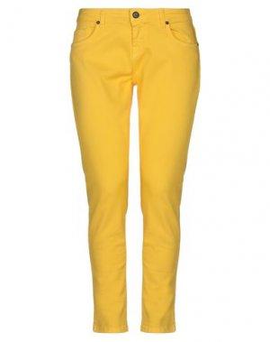 Джинсовые брюки UP ★ JEANS. Цвет: желтый