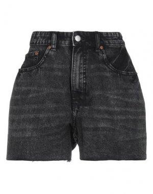 Джинсовые шорты CHEAP MONDAY. Цвет: черный