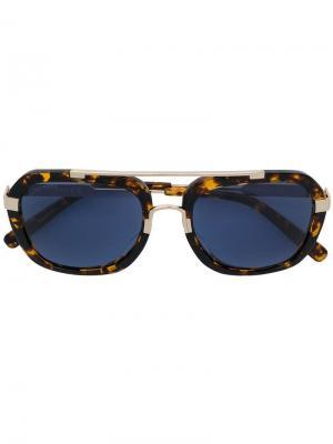 Солнцезащитные очки-авиаторы DQ0284S Dsquared2 Eyewear. Цвет: коричневый