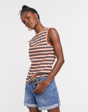 Оранжевая майка в полоску -Оранжевый Tommy Jeans