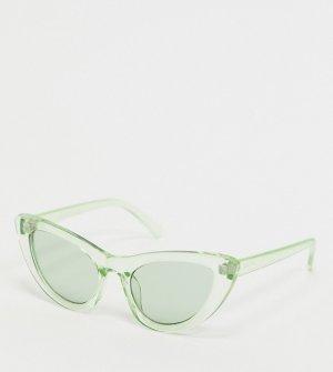 Зеленые солнцезащитные очки кошачий глаз -Зеленый Monki