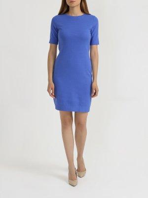 Платье с коротким рукавом Dabutton BOSS. Цвет: siniy