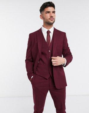 Узкий фланелевый пиджак wedding-Красный French Connection