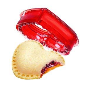 1шт Форма в форме сердечка бутерброд SHEIN. Цвет: красный