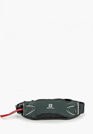 Пояс для бега Salomon BAG AGILE 500 BELT SET. Цвет: хаки