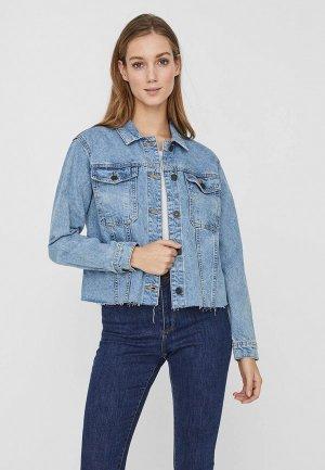 Куртка джинсовая Noisy May. Цвет: голубой