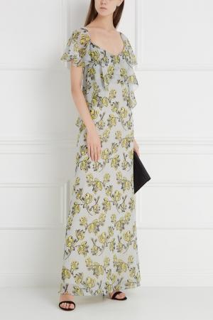 Шелковое платье Chapurin. Цвет: желтый