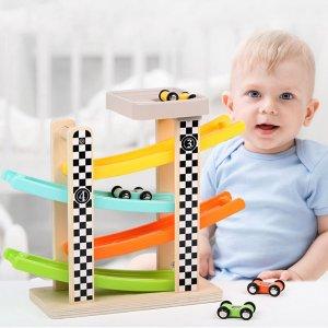 Детская игрушка 4-х слойной гоночной машины SHEIN. Цвет: многоцветный