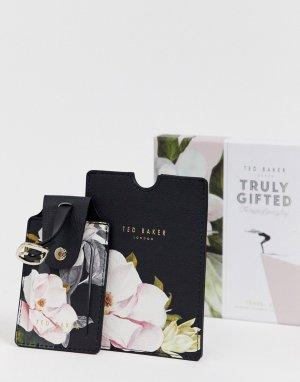 Обложка для паспорта с цветочным принтом и багажная бирка -Мульти Ted Baker