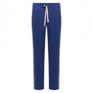 Хлопковые брюки Casablanca. Цвет: синий