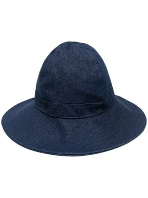 Джинсовая шляпа AMI Paris. Цвет: синий