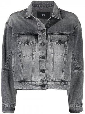 Джинсовая куртка 3x1. Цвет: черный