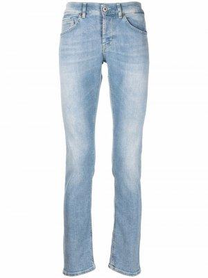 Узкие джинсы с эффектом потертости Dondup. Цвет: синий