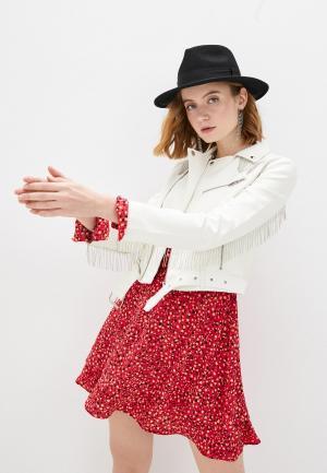 Куртка кожаная Izabella. Цвет: белый