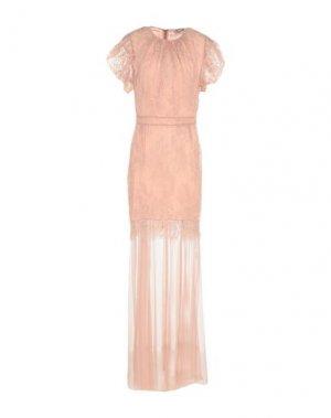 Длинное платье ANNA RACHELE. Цвет: пудровый