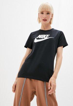 Футболка Nike Sportswear Essential Womens T-Shirt. Цвет: черный