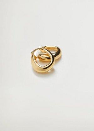 Перекрученные серьги-кольца - Valeria Mango. Цвет: золото
