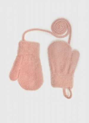 Варежки для девочек O`Stin. Цвет: светло-коралловый