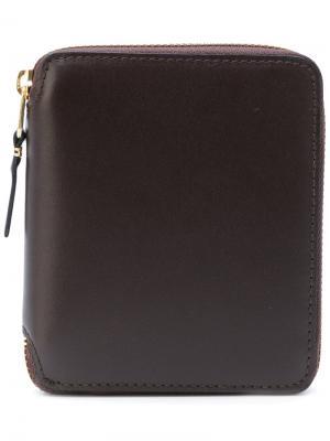 Кошелек на молнии Comme Des Garçons Wallet. Цвет: коричневый