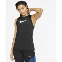 Женская майка с логотипом Swoosh Pro - Черный Nike