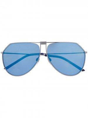 Солнцезащитные очки-авиаторы Dolce & Gabbana Eyewear. Цвет: золотистый