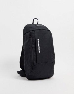 Черный рюкзак Skechers
