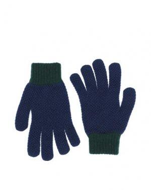 Перчатки PS PAUL SMITH. Цвет: синий