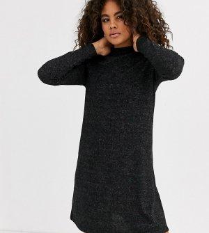 Трикотажное платье с длинными рукавами -Серый Only Tall