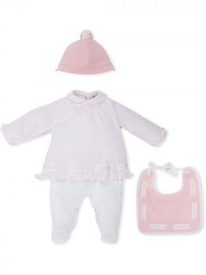 Комплект для новорожденного Fendi Kids. Цвет: розовый