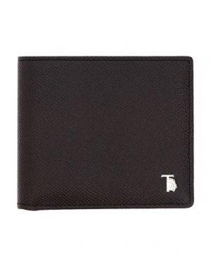 Бумажник TOD'S. Цвет: стальной серый