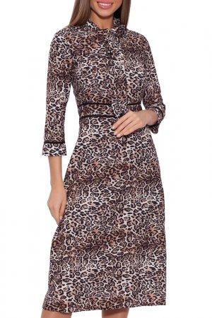 Платье Emansipe. Цвет: леопардовый