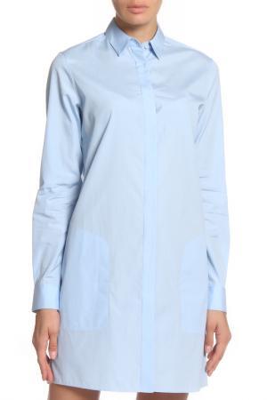 Платье-рубашка Acne. Цвет: голубой