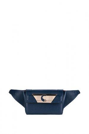 Поясная сумка Carlo Salvatelli. Цвет: синий