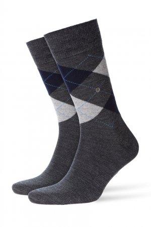 Шерстяные носки Edinburgh Burlington. Цвет: серый