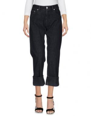 Джинсовые брюки-капри CARE LABEL. Цвет: черный