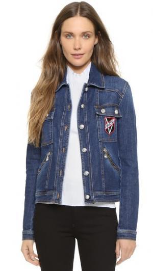 Джинсовая куртка Versus. Цвет: голубой