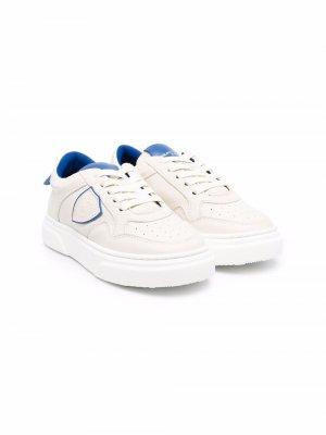 Side logo-patch low-top sneakers Philippe Model Kids. Цвет: нейтральные цвета