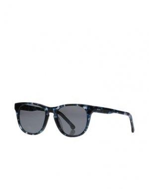 Солнечные очки KOMONO. Цвет: синий