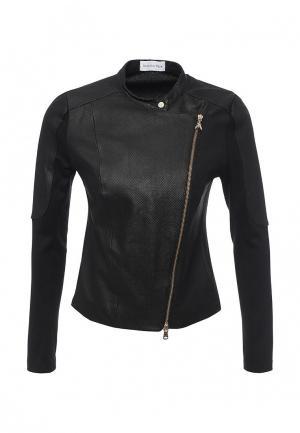 Куртка кожаная Patrizia Pepe PA748EWPAF10. Цвет: черный
