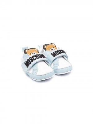 Декорированные кеды Moschino Kids. Цвет: белый