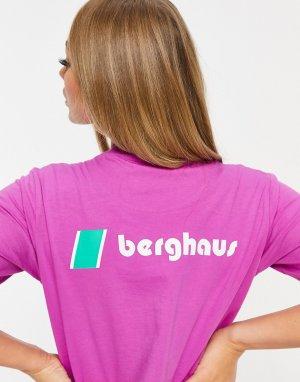 Фиолетовая футболка с логотипами -Фиолетовый Berghaus
