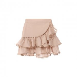 Хлопковая юбка Charo Ruiz Ibiza. Цвет: бежевый