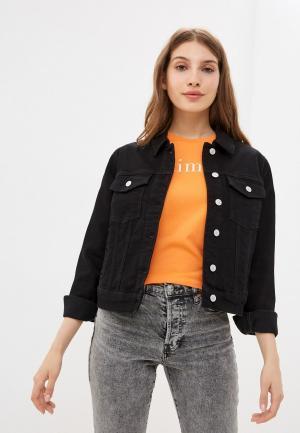 Куртка джинсовая Selected Femme. Цвет: черный