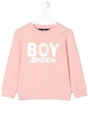 Толстовка с принтом логотипа Boy London Kids. Цвет: розовый