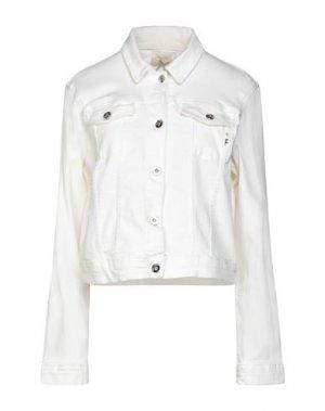 Джинсовая верхняя одежда FRACOMINA. Цвет: белый