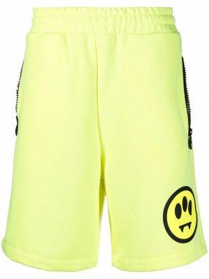 Спортивные шорты с графичным принтом BARROW. Цвет: желтый