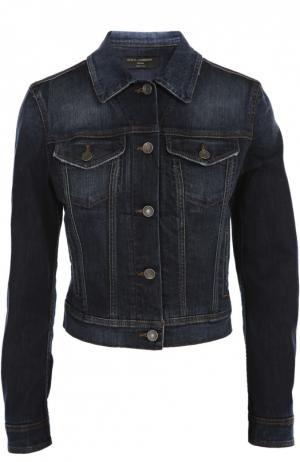 Джинсовая куртка Dolce & Gabbana. Цвет: темно-синий