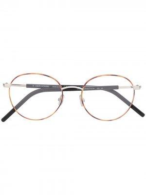Очки в круглой оправе Dior Eyewear. Цвет: коричневый