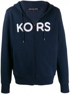 Худи с логотипом Michael Kors. Цвет: синий